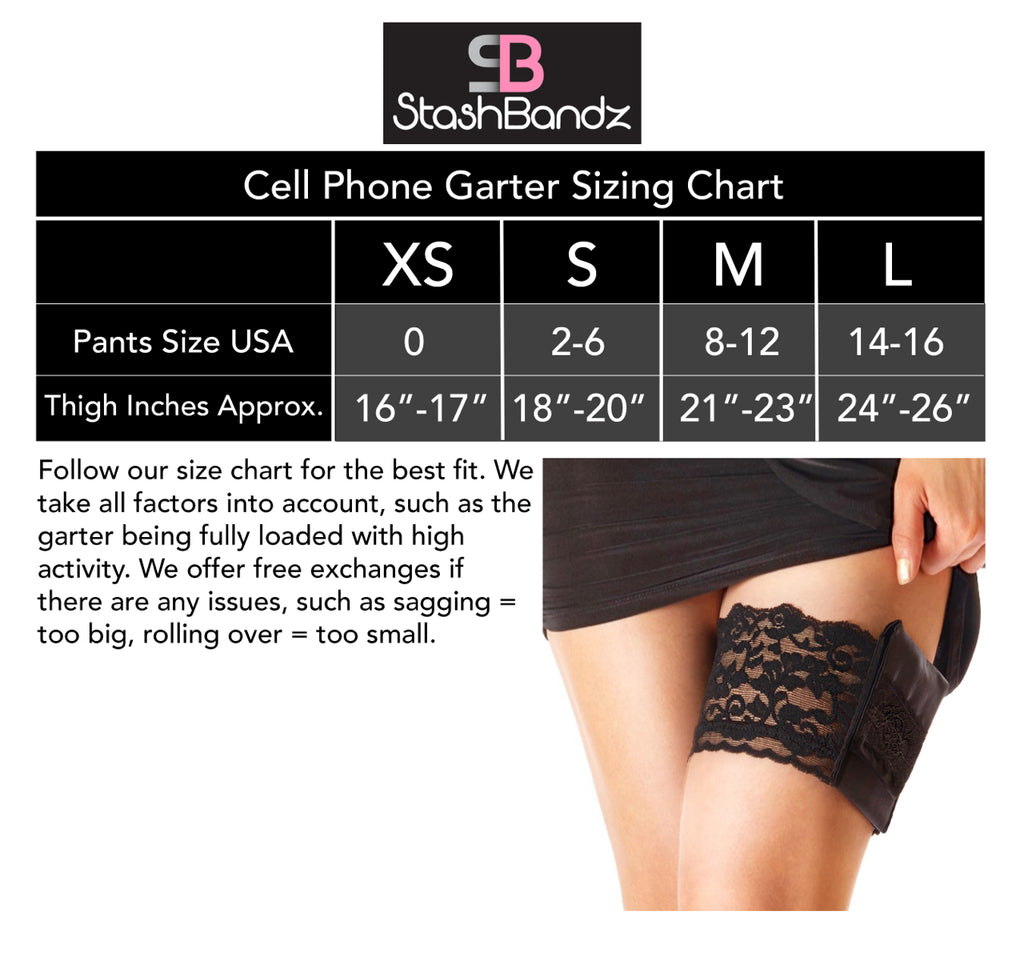 Cell Phone Garter Purse With Stay-Put Grip