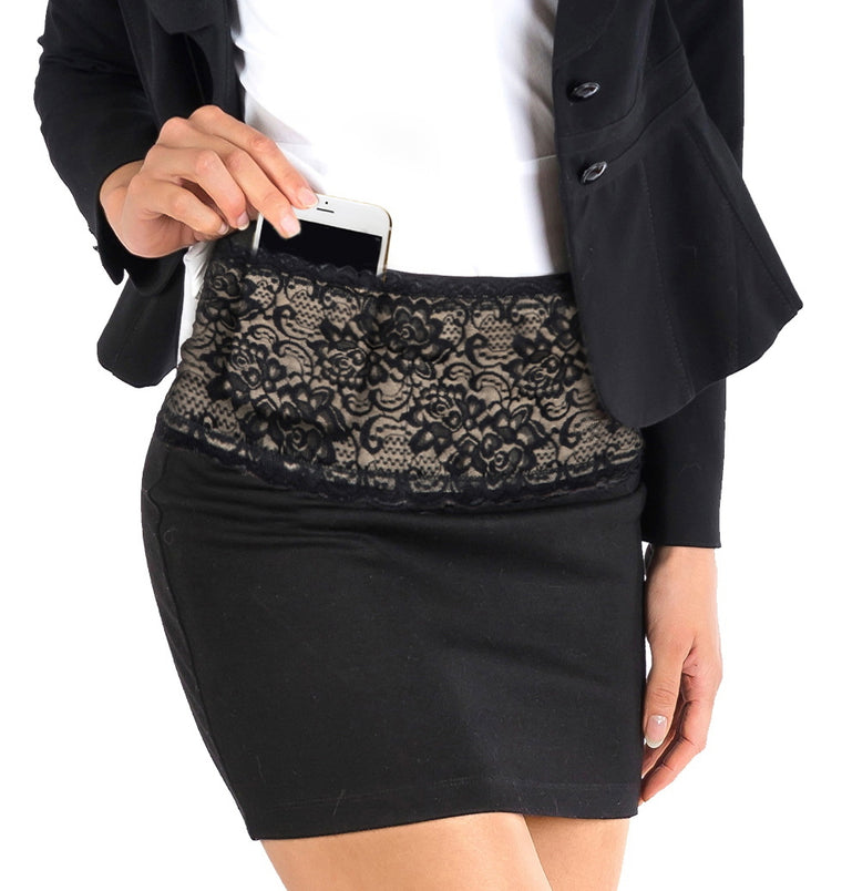 Lace Fanny Pack with Silicone Gripper