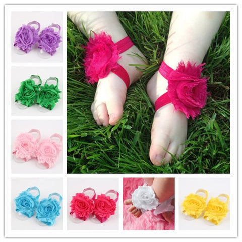Baby Shabby Flower Foot Sandals