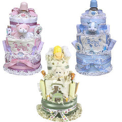 Impressive Baby Shower Diaper Cake Three Tiered