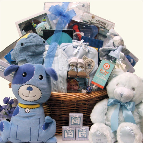 All in One Grand Baby Boy Gift Basket