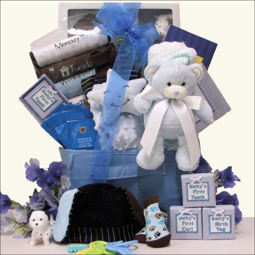 Welcome Beary Cute Baby Boy Gift Basket