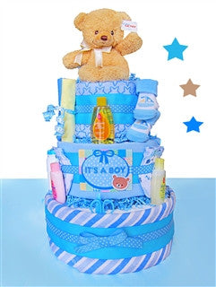 It's A Boy Three Tiered Diaper Cake