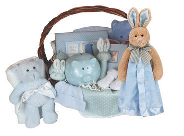 Blue Bountiful Baby Boy Gift Basket