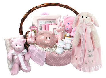 Pink Bountiful Baby Girl Gift Basket