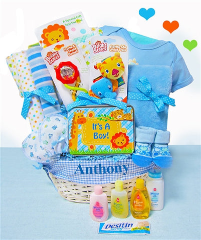 Baby Boy Jungle Pal Gift Basket