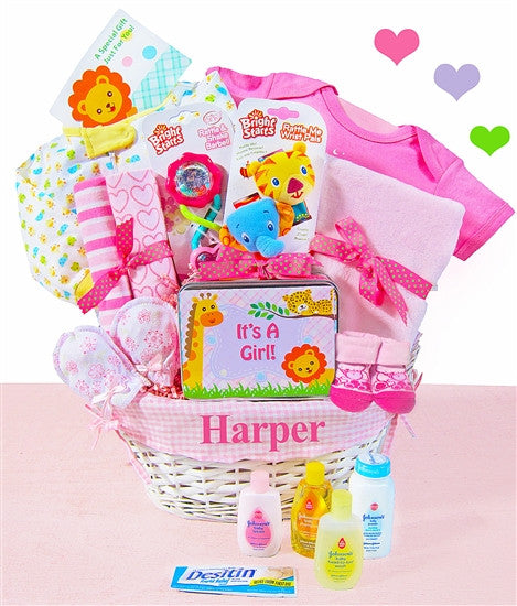 Baby Girl Jungle Pal Gift Basket