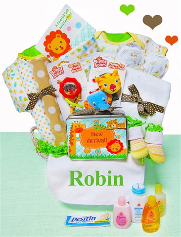 Baby Neutral Jungle Pal Gift Basket