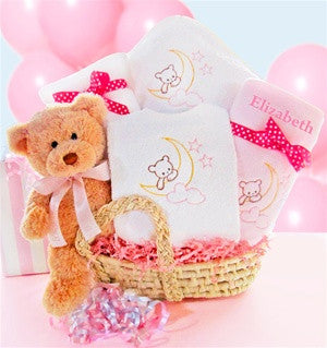 Personalized Beary Sweet Girl Gift Basket