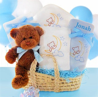 Personalized Beary Sweet Boy Gift Basket