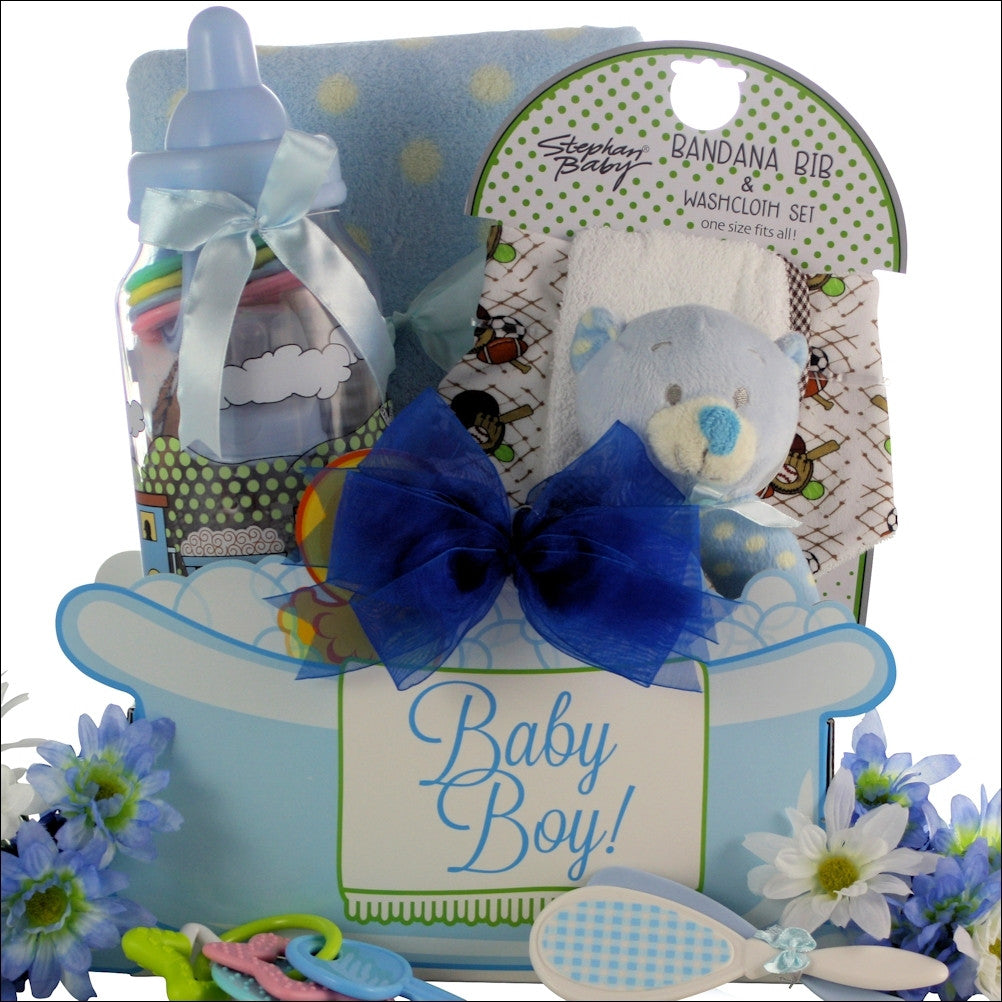 Baby Boy Essentials Gift Basket