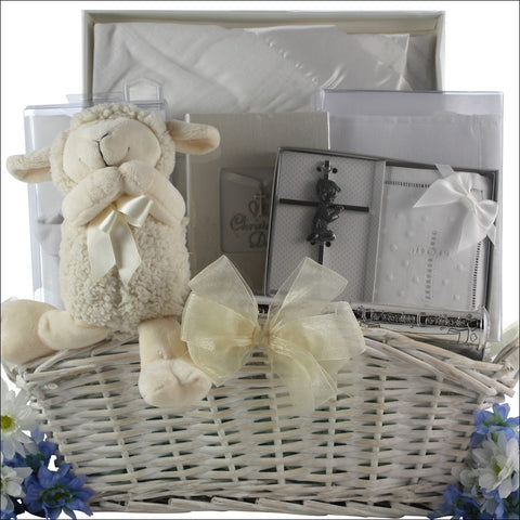 Child of God Christening Baby Boy Gift Basket