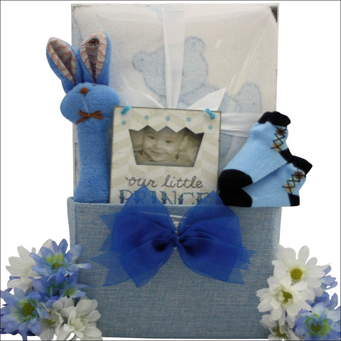 Special Little Puppy Baby Boy Gift Basket