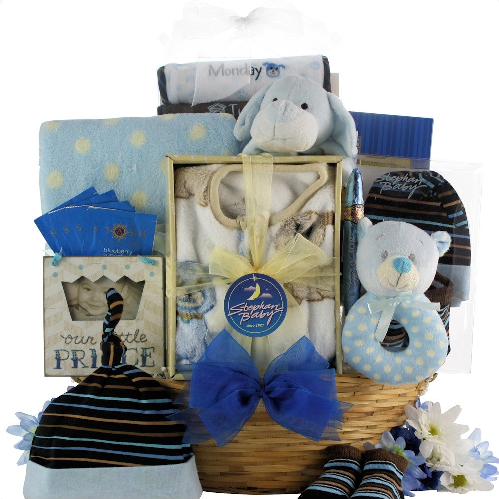 New Welcome Beary Cute Baby Boy Gift Basket