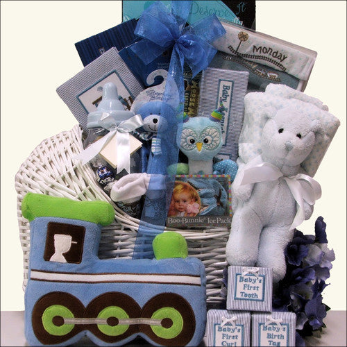 Little Prince Adorable Baby Boy Gift Basket