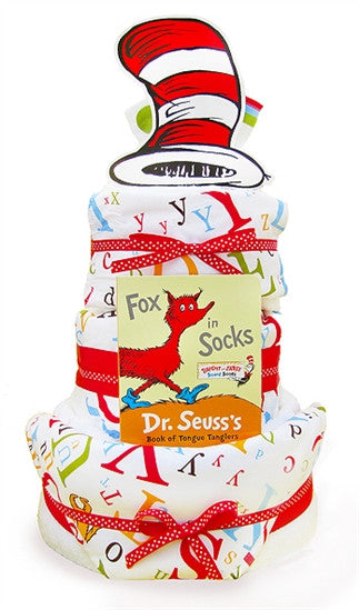 Dr. Seuss Cat In The Hat Diaper Cake