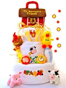 Barnyard & Friends Neutral Diaper Cake