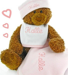 Big Bear Baby Girl Fleece Gift Set