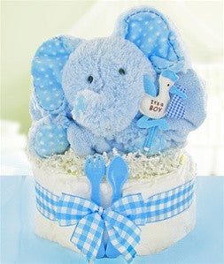 Baby Shower Huggable Elephant Diaper Cake