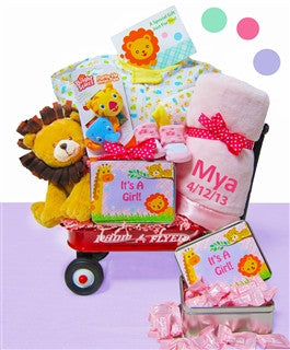 It's A Girl Jungle Wagon Gift Set