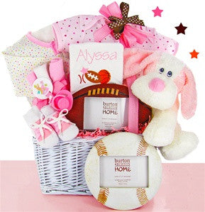 Personalized Baby Girl Sports Gift Basket