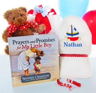 Baby Boy Prayer Gift Basket