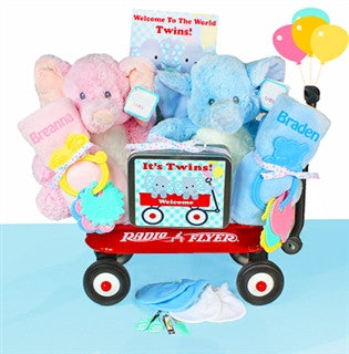New Baby Twins Wagon Gift Set