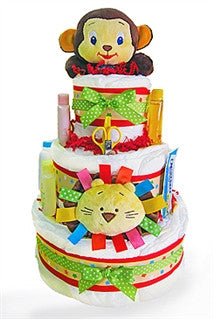 Wild Jungle Baby Shower Diaper Cake