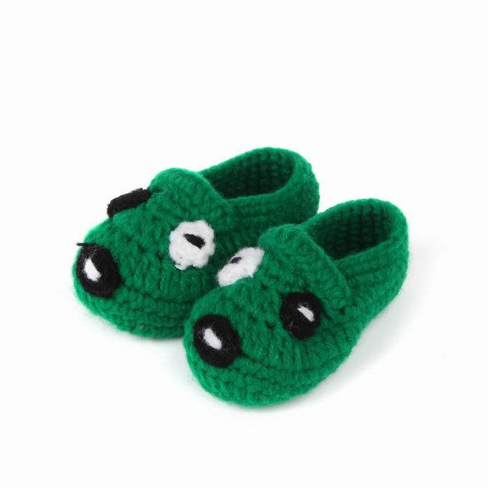 Green Puppy Baby Shoes for Boys