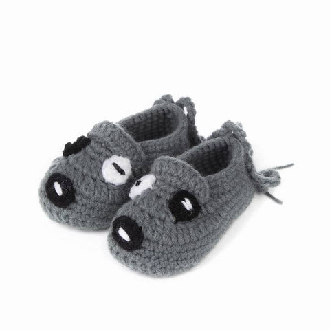 Gray Puppy Baby Shoes for Boys