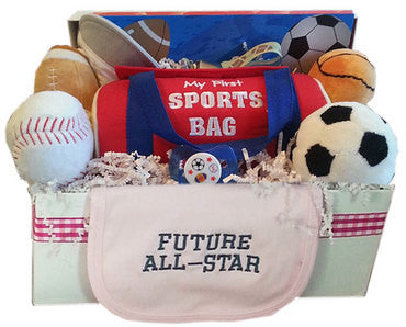 Personalized All Star Sporty Baby Gift Basket