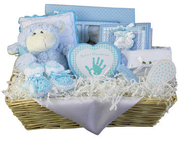 Elegant Treasures Baby Gift Basket for Neutral Baby