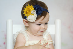 Shabby Flower Baby Headband