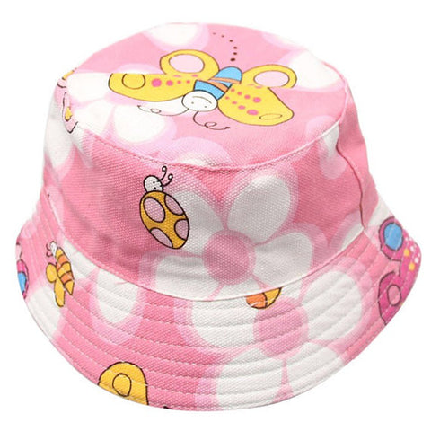 Pink Butterfly Toddler Bucket Hat