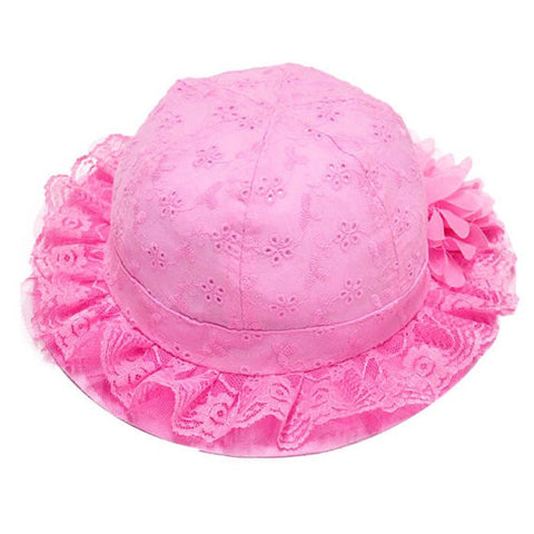 Hot Pink Baby Summer Hat
