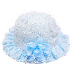 Sky Blue Summer Baby Hat
