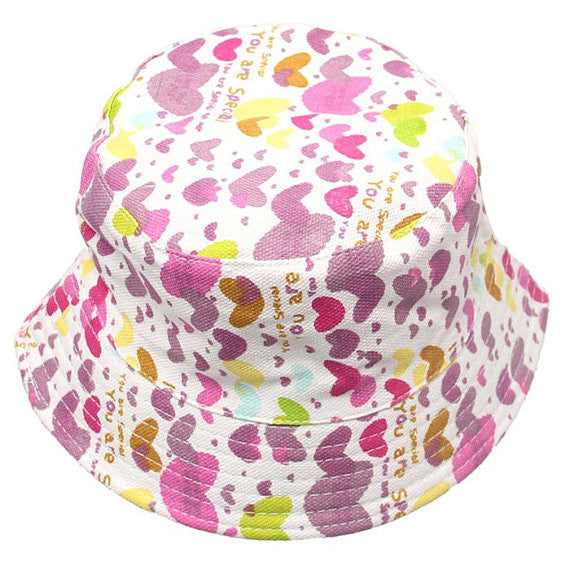 Purple Hearts Summer Bucket Hat