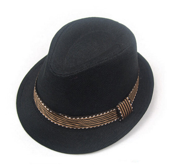 Kid's Black Cowboy Fedora Hat