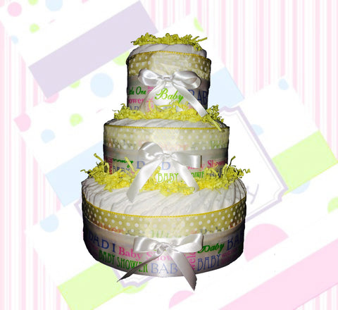 DIY Gender Neutral Welcome Baby Diaper Cake Kit, Diaper Cake Centerpiece, Gender Neutral Diaper Cake