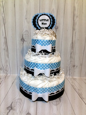 Little Man Diaper Cake Centerpiece for Your Boy Baby Shower/Baby Shower Centerpiece