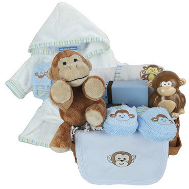 Welcome Baby Monkey Gift Basket