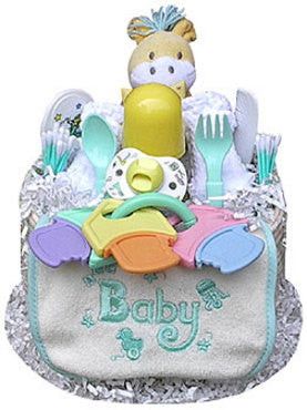 Adorable Neutral Baby Diaper Cake