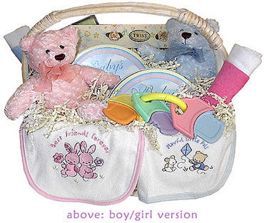 Welcome Twins Gift Basket