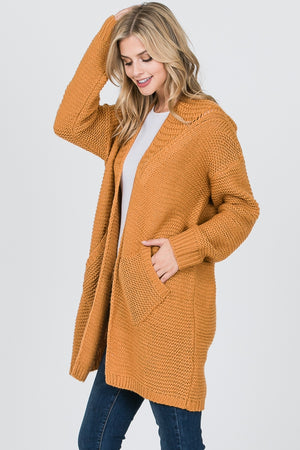 Mustard Slouch Cardigan