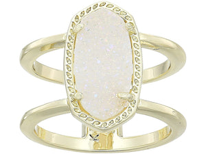 Elyse Gold Drusy Ring