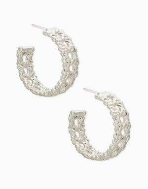 Natalie Silver Hoop Earrings In Silver