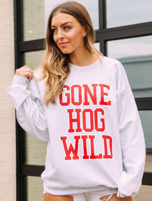 Gone Hog Wild Retro Sweatshirt