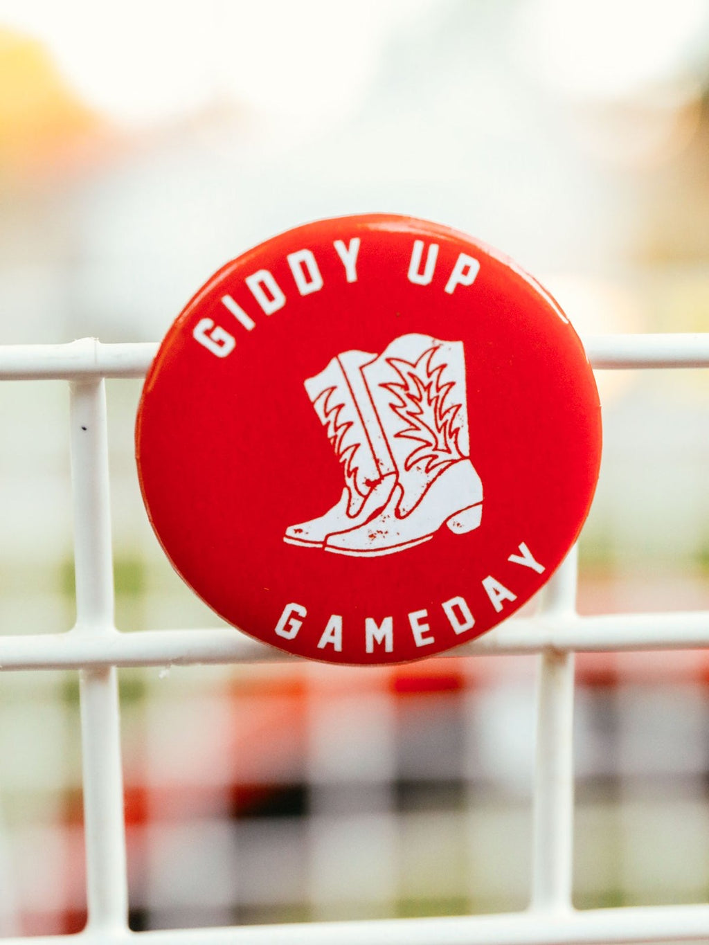 Giddy Up Game Day Button