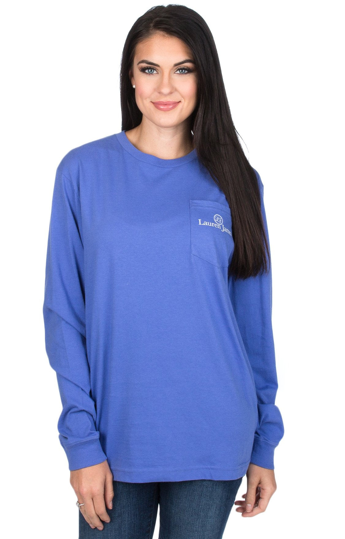 Lauren James Peace and Pearls Long Sleeve Tee