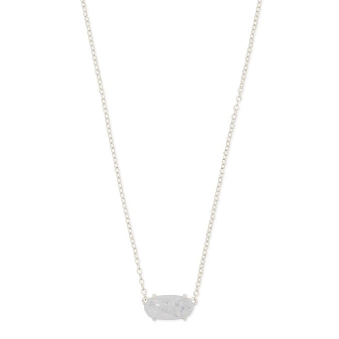 The Everly Silver Pendant Necklace In Iridescent Drusy by Kendra Scott